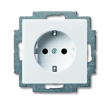 Розетка электрическая с заземлением, белый, ABB 20 EUC-94-507 Basic 55 - фото 48487
