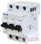 Автомат трехфазный 10 А, уставка C, PL4-C10/3 Moeller / Eaton