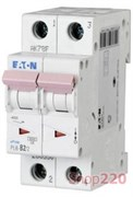 Автоматический выключатель 2-х полюсный 16 А, тип С, PL6-C16/2 Moeller Eaton