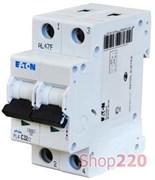 Автоматический выключатель 16А, кривая С, 2 полюса, PL4-C16/2 Moeller / Eaton