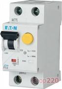 Диф. автомат 6 А, 30 мА, уставка C, PFL6 Eaton PFL6-6/1N/C/003