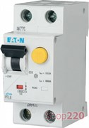 Дифавтомат 6 А, 30 мА, уставка В, PFL6 Moeller PFL6-6/1N/В/003