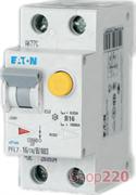 Дифавтомат 16 А, 30 мА, уставка C, PFL7-16/1N/C/003 Moeller / Eaton