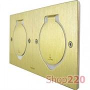 Лючок для розеток в пол / стол, бронза, 89712 Legrand