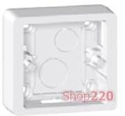 Коробка для накладного монтажа 1-постовая, белый, 80241 Legrand Celiane