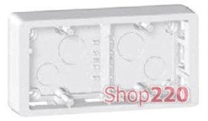 Коробка для накладного монтажа 2-х постовая, белый, 80242 Legrand Celiane