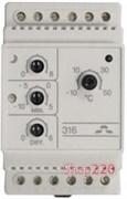Терморегулятор Devireg 316, -10 - +50 *С, 16 А, 140F1075 Devi