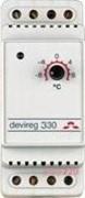 Терморегулятор Devireg 330, +5 - +45 *С, 16А датчик пола, 140F1072 Devi