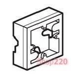 Коробка накладная 1-пост, белый, горизонтальный монтаж