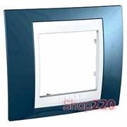 Рамка 1 пост, голубой лёд, Unica MGU6.002.854 Schneider