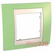Рамка 1 пост, зеленое яблоко, Unica MGU6.002.563 Schneider