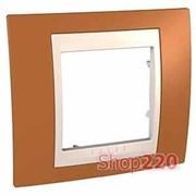 Рамка 1 пост, оранжевый, Unica MGU6.002.569 Schneider
