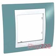 Рамка 1 пост, синий, Unica MGU6.002.873 Schneider