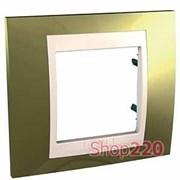 Рамка 1 пост, золото, Unica MGU66.002.504 Schneider