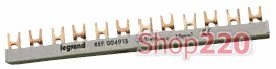 Гребёнка 1Р (однополюсная), 12 модулей типа ласточкин хвост, 404911 Legrand