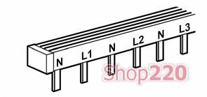 Гребенка с двухполюсным распределением на 3 фазы типа штырь, 404940 Legrand
