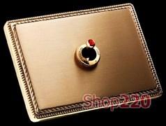 Переключатель, 10АХ 250В, золото с кристаллом гиацинт Svarovsky