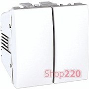 Выключатель 2-кл., 2 модуля, белый, Unica MGU3.211.18 Schneider
