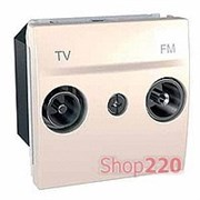 Механизм розетки ТВ-FM конечной 4-1МГц, 2 мод., слоновая кость, Unica MGU3.452.25 Schneider