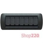 Выключатель 7-клавишный, черный графит