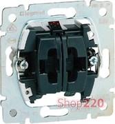 Механизм выключателя кнопочного 2-клавишного, Galea Life 775818 Legrand