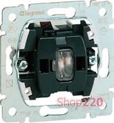 Механизм выключателя кнопочного, 1-клавишный с подсветкой, Galea Life 775813 Legrand