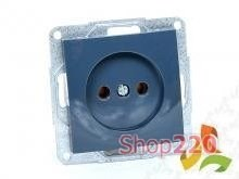 Механизм розетки без заземления, 16А 250В, антрацит, Fiorena