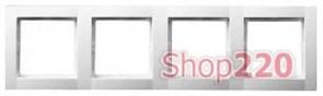 Рамка 4 поста, белый, Polo Fiorena 22011902