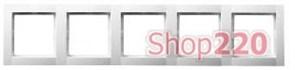 Рамка 5 постов, белый, Polo Fiorena 22012002