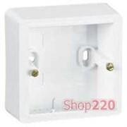 Коробка для накладного монтажа 773698 Legrand Cariva, белый