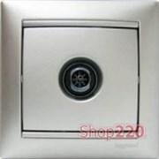 Механизм розетки TV проходной, 2400 МГц 15дБ, алюминий, Legrand 770131 Valena