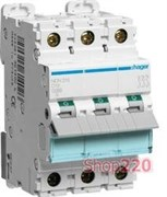 Автоматический выключатель 25А, тип D, 3 фазы, NDN325 Hager