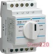 Переключатель фаз для вольтметра, Hager SK602