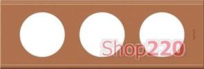 Рамка 3 поста, кожа крем-карамель, 69283 Legrand Celiane