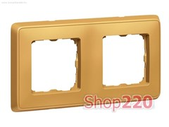 Рамка 2 поста, матовое золото, 773662 Legrand Cariva