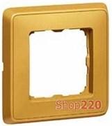 Рамка 1 пост, матовое золото, 773661 Legrand Cariva