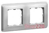 Рамка 2 поста, алюминий, 773672 Legrand Cariva