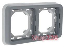 Рамка-суппорт 2-ная, горизонтальня, серый 69683 Legrand