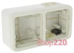 Коробка 2-ная накладная, белый 69690 Legrand