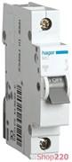 Автоматический выключатель 16 А, 1-фазный, С, MC116A Hager