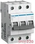 Трехфазный автоматический выключатель 6 А, уставка С, MC306A Hager