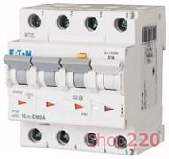 Трехфазный дифференциальный автоматический выключатель 20А, 30мА, тип С, mRB4-20/3N/C/003-A Eaton / Moeller