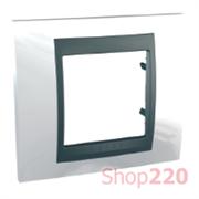 Рамка 1 пост, белоснежный, Unica MGU66.002.292 Schneider