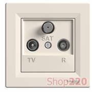 Розетка TV/R/SAT проходная, слоновая кость, EPH3500223 Schneider Asfora