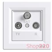 Розетка TV/R/SAT конечная, белый, EPH3500121 Schneider Asfora