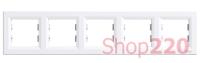 Рамка 5 постов, белый, EPH5800521 Schneider Asfora