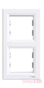 Рамка 2 поста, вертикальная, белый, EPH5810221 Schneider Asfora