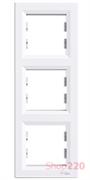 Рамка 3 поста, вертикальная, белый, EPH5810321 Schneider Asfora