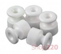 Изоляторы для наружной проводки, пластик, белый, 30913050 Fontini