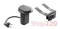 Лючок настольный с USB и электрической розеткой, черный, 54086 Legrand